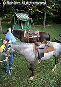 Outdoor recreation, Horseback Trail Camping, Setting Camp, Berks Co., PA