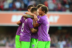 Josh Brownhill of Bristol City celebrates his goal with team mates - Mandatory by-line: Dougie Allward/JMP - 15/08/2017 - FOOTBALL - Griffin Park - Brentford, England - Brentford v Bristol City - Sky Bet Championship