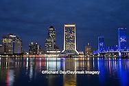 63412-01102 Jacksonville skyline at dusk, Jacksonville, FL