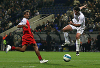Photo: Paul Thomas.<br /> Bolton Wanderers v Braga. UEFA Cup. 25/10/2007.<br /> <br /> Gary Speed (R) heads at goal for Bolton. *** Local Caption *** *** UK ONLY ***