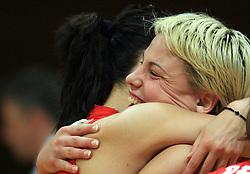 Bojana Stojkovic of Nova KBM celebrates after 1st match of finals of 1st DOL women volleyball league between OK Hit Nova Gorica and OK Nova KBM Branik, Maribor played in OS Milojke Strukelj, on April 8, 2009, in Nova Gorica, Slovenia. Nova KBM Branik won 3:1. (Photo by Vid Ponikvar / Sportida)
