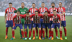 Atletico Madrid team group during the UEFA Europa League final at Parc Olympique Lyonnais, Lyon. PRESS ASSOCIATION Photo. Picture date: Wednesday May 16, 2018. See PA story SOCCER Final. Photo credit should read: Nick Potts/PA Wire