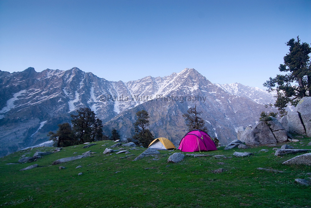 Himalayan Mountains camping scenery