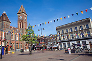 The Town hall and historic buildings in the market square, Newbury, Berkshire, England