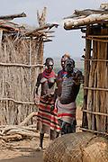 Karo tribe couple. Omo Valley, Ethiopia
