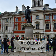 Protest - Abolish Australia Day, in London, UK