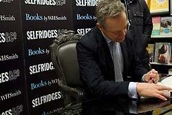 © Licensed to London News Pictures. 14/12/2011. London, UK. Simon Mann, (Former SAS officer and mercenary who was imprisoned in Equatorial Guinea for his role in an attempted Coup d'etat in 2004) signing his new book 'Cry Havoc' in Selfridges, London. Photo credit : James Gourley/LNP