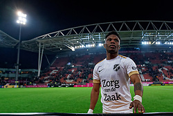 Issah Abass #21 of FC Utrechtcelebrate after the semi final KNVB Cup between FC Utrecht and Ajax Amsterdam at Stadion Nieuw Galgenwaard on March 04, 2020 in Amsterdam, Netherlands