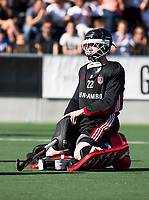 AMSTELVEEN  - Hockey -  1e wedstrijd halve finale Play Offs dames.  Amsterdam-Bloemendaal (5-5), Bl'daal wint na shoot outs. Jan de Wijkerslooth (A'dam)  COPYRIGHT KOEN SUYK