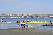 San Diego, California. USA. General Views, Crews boating from the beach. 2013 Crew Classic Regatta, Mission Bay.  16:37:59.  Saturday  06/04/2013   [Mandatory Credit. Peter Spurrier/Intersport Images]  ..