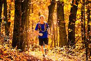 fall running in blue ridge mountains