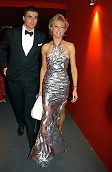 """LADY ALEXANDRA SPENCER-CHURCHILL and MR DAVID PEACOCK at the 10th annual British Red Cross London Ball.  This years ball theme was Indian based - """"Yaksha - Yakshi: Doorkeepers to the Divine"""" and was held at The Room, Upper Ground, London on 1st December 2004.  Proceeds from the ball will aid vital humanitarian work, including HIV/AIDS projects that the Red Cross supports in the UK and overseas.<br /><br />NON EXCLUSIVE - WORLD RIGHTS"""