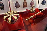 Perspreview 50 jaar Koninklijk Paleis Amsterdam.<br /> <br /> Op de foto:   De kroon, Rijksappel en Scepter