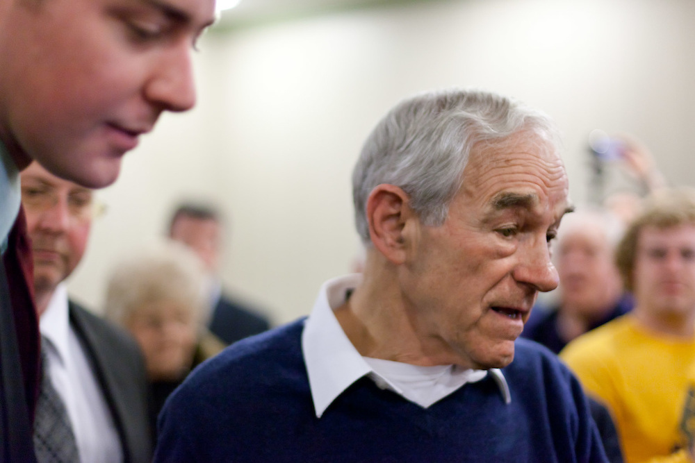 Ron Paul held a town hall meeting at the Hilton in Rock Hill, SC on 1/17/12