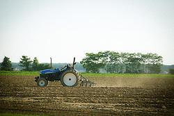 farmer working the field in The Hamptons