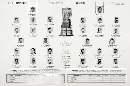 All Ireland Senior Hurling Championship Final,.04.09.1966, 09.04.1966, 4th September 1966,.Minor Cork v Wexford, .Senior Kilkenny v Cork, Cork 3-09 Kilkenny 1-10,..Kilkenny, .O Walsh, P Henderson, J Lynch, J Treacy, S Cleere, T Carroll, M Coogan, P Moran, J Teehan, E Keher, C Dunne, S Buckley,  J Dunphy,  P Dillon,  T Walsh,  R Dunphy, P Delahunty,  E Connolly,  P Carroll,  T Murphy, ...Cork, .P Barry, P Doolan, T O'Donoghue,  D Murphy, T Connolly,  D O' Riordan, P Fitzgerald, J McCarthy, J O'Sullivan, S Barry, J O'Halloran, G McCarthy, C McCarthy, C Sheehan, J Bennett, G O'Leary, C Roche, M Mac, D Sheehan,  F O'Neill,