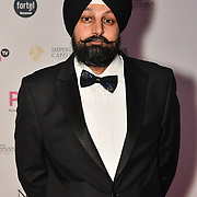 Tony Shergill of Brit Asia TV attend the BritAsiaTV Presents Kuflink Punjabi Film Awards 2019 at Grosvenor House, Park Lane, London,United Kingdom. 30 March 2019