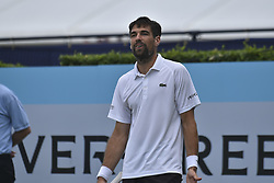 June 20, 2018 - London, United Kingdom - Jeremy Chardy of France play the second round singles match on day three of Fever Tree Championships at Queen's Club, London on June 20, 2018. (Credit Image: © Alberto Pezzali/NurPhoto via ZUMA Press)