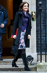 © Licensed to London News Pictures. 26/01/2016. London, UK. Northern Ireland Secretary THERESA VILLIERS attending a cabinet meeting in Downing Street on Tuesday, 26 January 2016. Photo credit: Tolga Akmen/LNP