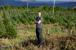 Dougie Duff, of Dufftrees, Christmas Tree Farm Wester Auchentroig Farm, Nr Buchlyvie. The tree farm is donating trees for the Highland villages who've had their free trees taken off them this year.