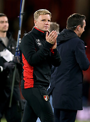 AFC Bournemouth manager Eddie Howe acknowledges the fans after the final whistle