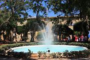 Water fountain in Upper Barrakka Gardens, Valletta, Malta