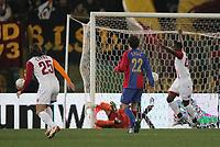 Basels Ergic kann nur zuschauen wie das 1:0 faellt. © Urs Bucher/EQ Images