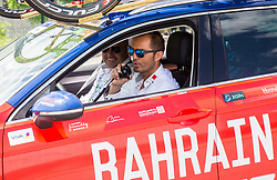 Milan Erzen and Gorazd Stangelj of Bahrain Merida during Stage 3 of 24th Tour of Slovenia 2017 / Tour de Slovenie from Celje to Rogla (167,7 km) cycling race on June 16, 2017 in Slovenia. Photo by Vid Ponikvar / Sportida