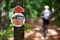 Slaughter Pen Mountain Bike Park in Bentonville, Arkansas on May 24, 2020.