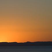 La Paz harbor at sunset. La Paz. BCS. Mexico.