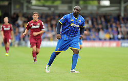 Wimbledon's Adebayo Akinfenwa - photo mandatory by-line David Purday JMP- Tel: Mobile 07966 386802 - 30/08/14 - Afc Wimbledon v Stevenage - SPORT - FOOTBALL - Sky Bet Leauge 2 - London - The Cherry Red Stadium