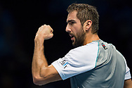 Marin Cilic of Croatia during the Nitto ATP World Tour Finals at the O2 Arena, London, United Kingdom on 16 November 2018. Photo by Martin Cole