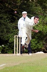 Cricket Whiston Meths V Kilnhirst.Whiston Methodists bowler Cory Goodwin.121040  Whiston Meths Vs Kilnhirst ..30 June 2012.Image © Paul David Drabble