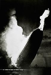 Jan. 1, 1930 - German Airship, Hindbenburg, Crashing and Burning at Lakehurst, New Jersey, USA, May 6, 1937 (Credit Image: © Glasshouse/ZUMAPRESS.com)
