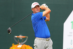 August 25, 2018 - Paramus, NJ, U.S. - PARAMUS, NJ - AUGUST 25:  Ryan Palmer of the United States plays his shot from the first tee  during the third round of The Northern Trust on August 25, 2018 at the Ridgewood Championship Course in Ridgewood, New Jersey.   (Photo by Rich Graessle/Icon Sportswire) (Credit Image: © Rich Graessle/Icon SMI via ZUMA Press)