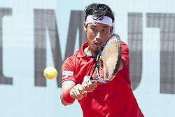 May 8, 2018 - Madrid, Spain - Japanese Yuichi Sugita  during Mutua Madrid Open 2018 at Caja Magica in Madrid, Spain. May 08, 2018. (Credit Image: © Coolmedia/NurPhoto via ZUMA Press)