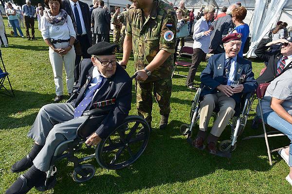 Nederland, Groesbeek, 18-9-2014Herdenking Market Garden, dropping 82nd Airborne Division.Veteranen tijdens de viering en herdenking van 70 jaar Market Garden, slag om Arnhem.Dit jaar is de laatste keer dat er een officiele herdenking is waarbij veteranen formeel aanwezig zijn..FOTO: FLIP FRANSSEN/ HOLLANDSE HOOGTE