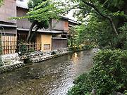 Shirakawa canal in Gion district, Kyoto, Japan