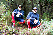 Esapekka Lappi(FIN)and Co/Driver Janne(FIN)Citroen C3 waiting for the stage to finish after crashing out  during the Wales Rally GB at the Snowdonia National Park on 4 October 2019.Stage SS3 Penmachno