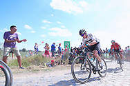 Geraint Thomas (GBR - Team Sky) and Andre Greipel, pass cobblestone section of during during the 105th Tour de France 2018, Stage 9, Arras Citadelle - Roubaix (156,5km) on July 15th, 2018 - Photo George Deswijzen / Proshots / ProSportsImages / DPPI