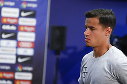 April 27, 2018 - Barcelona, Catalonia, Spain - April 27, 2018 - Ciutat Esportiva Joan Gamper, Barcelona, Spain - Philip Coutinho  during the announces of the departure of Andres Iniesta from FC Barcelona at the end of the season. (Credit Image: © Eric Alonso via ZUMA Wire)