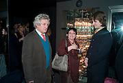 JAMES HUGHES-ONSLOW; MIRA BAR-HILLEL; IAN WISNIEWSKI, Book launch for La di da di Bloody Da! by Robin Anderson. Fleming's cocktail bar. Half Moon St. London. 8 Feb 2010.