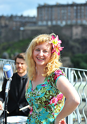 Jazz singer Alison Affleck launched the 2016 Edinburgh Jazz & Blues Festival.<br /> <br /> © Dave Johnston/ EEm