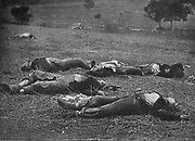 FEDERAL DEAD AT GETTYSBURG, JULY 1, 1863 from the book ' The Civil war through the camera ' hundreds of vivid photographs actually taken in Civil war times, sixteen reproductions in color of famous war paintings. The new text history by Henry W. Elson. A. complete illustrated history of the Civil war
