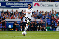 Fulham midfielder Stefan Johansen (8) plays a pass during the EFL Sky Bet Championship match between Ipswich Town and Fulham at Portman Road, Ipswich, England on 26 August 2017. Photo by Phil Chaplin.
