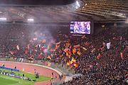 Foto Fabio Rossi/AS Roma/ LaPresse<br /> 10/4/2018 Roma (Italia)<br /> Sport Calcio<br /> Roma-FC Barcellona<br /> UEFA Champions League 2017/2018 - Stadio Olimpico di Roma<br /> Nella foto: AS Roma fans<br /> <br /> Photo  Fabio Rossi/AS Roma/ LaPresse<br /> 10/4/2018 Rome (Italy)<br /> Sport Football<br /> Roma-FC Barcelona<br /> UEFA Champions League  2017/2018 - Stadio Olimpico di Roma<br /> In the pic: AS Roma fans