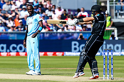 Jofra Archer of England looks on - Mandatory by-line: Robbie Stephenson/JMP - 03/07/2019 - CRICKET - Emirates Riverside - Chester-le-Street, England - England v New Zealand - ICC Cricket World Cup 2019 - Group Stage