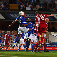 PIC BY DANIEL HAMBURY/SPORTSBEAT IMAGES<br /><br />WALSALL'S GARRY BIRCH SCORES TO EQUALISE AGAINST IPSWICH