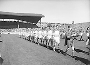 All Ireland Senior Football Final Down v. Offaly 24th September 1961..24.09.1961  24th September 1961E. McKay, G. Lavery, L. Murphy, P. Rice, P. O'Hagan, D. McCartan, J. Smith, J. Carey, J. Lennon, S. O'Neill, J. McCartan, P. Doherty (Captain), A. Hadden, P. J. McIlroy, B. Morgan..Subs: K. O'Neill for P. Rice; Rice for G. Lavery..P. Doherty (Captain).