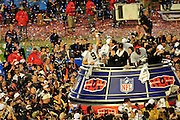 Super Bowl XLIV Presentation of Lombardi Trophy to the Super Bowl Champs the New Orleans Saints who beat the Col=ts 31-17 to win the Super Bowl in Miami Feb 7,2010.Photo ©SuziAltman  ALL IMAGES ©SUZI ALTMAN/Suzisnaps.com IMAGES ARE NOT PUBLIC DOMAIN.call or email for use 601-668-9611 suzisnaps@aol.com